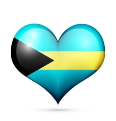 Bahamas Heart flag icon vector