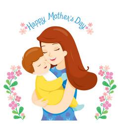 Bain a tender embrace mother vector