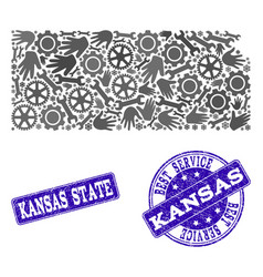 Best service composition of map of kansas state vector