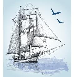 Boat drawing Sailboat sketch vector