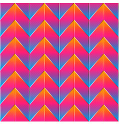bright zigzag pattern vector image