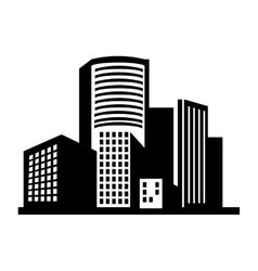 building structure silhouette vector image