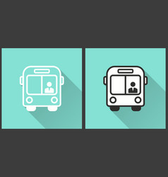 bus - icon vector image