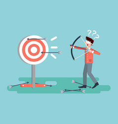 businessman hits target vector image