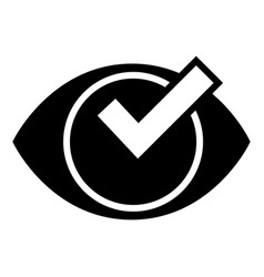 Check eye list icon simple style vector