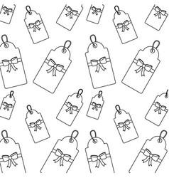 christmas tag price bow hang sale celebration vector image