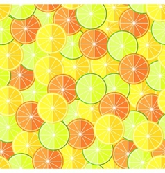 Citrus seamless pattern with lemons oranges and vector image