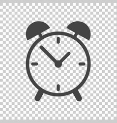 clock icon flat design on isolated background vector image