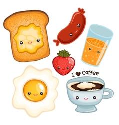cute breakfast food image vector image