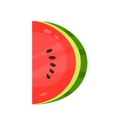 D veggie fruit letter of english alphabet made vector