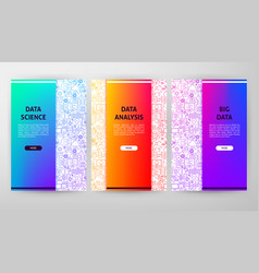 Data science brochure web design vector