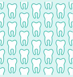 Dentist orthodontics blue white seamless pattern vector