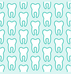 dentist orthodontics blue white seamless pattern vector image