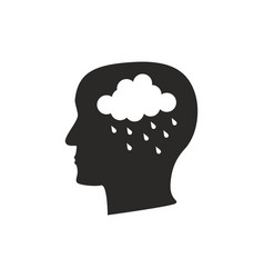 Depression mental disease icon vector