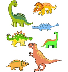 dinosaur collection vector image
