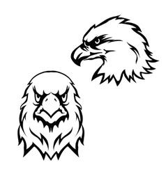 Eagles head logo emblem template set mascot symbol vector