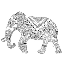 Elephant with Indian patterns vector