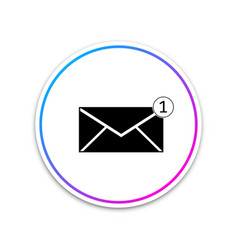 Envelope icon isolated received message concept vector