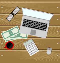 financial audit on laptop vector image