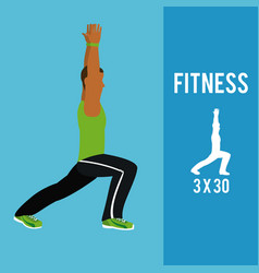Fitness exercises series vector