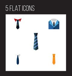 flat icon necktie set of suit cravat tailoring vector image