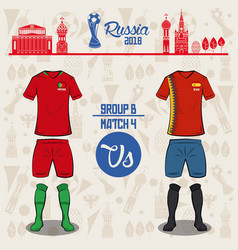 Football world russia 2018 match vector