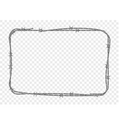 frame made metal barbed wire vector image