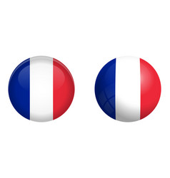 france flag under 3d dome button and on glossy vector image