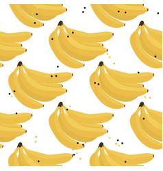 Fresh summer banana background seamless vector