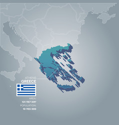 Greece information map vector