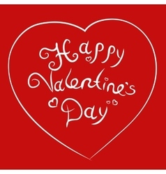 Hand sketched Happy Valentine s Day text vector