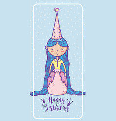 Happy birthday card for girls vector