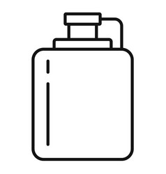 hip flask icon outline style vector image