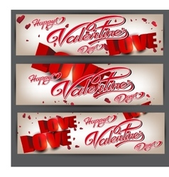 Holiday flyers happy Valentine s Day vector