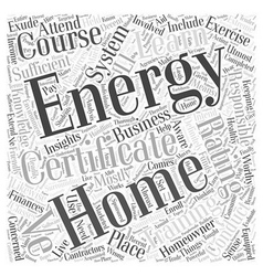 home energy rating system certificate training vector image