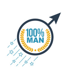 Icon of the male sign inscription vector