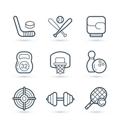icon set sport and games vector image