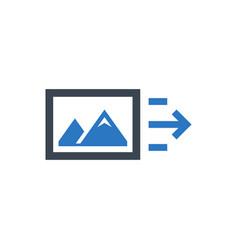 Image file sending icon vector