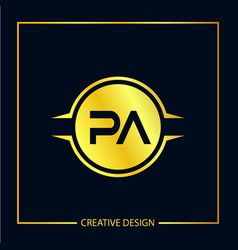 Initial letter pa logo template design vector