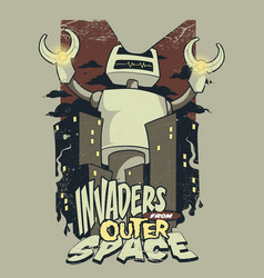 Invaders from outer space vector