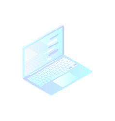 isometric laptop on white background flat vector image