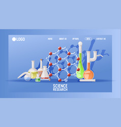 laboratory science research landing page vector image