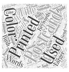 Larger than Words Word Cloud Concept vector