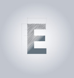 Letter e logo alphabet logotype architectural vector