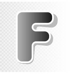 letter f sign design template element new vector image