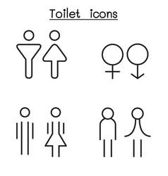 Modern toilet restroom bathroom symbol set vector