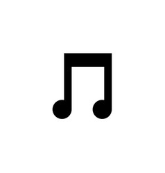music note graphic design template vector image