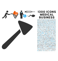 Neurologist hammer icon with 1300 medical business vector