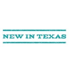 New In Texas Watermark Stamp vector