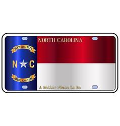 North carolina license plate flag vector